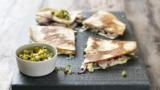 Chicken quesadillas and sweetcorn salsa