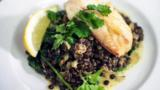 Creamy lentils with smoked haddock