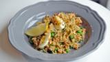 Hot-smoked salmon kedgeree