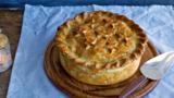 Indian potato raised pie