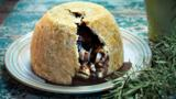 Lamb and kidney suet pudding with rosemary