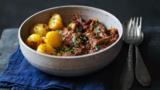 Lamb madras with bombay potatoes