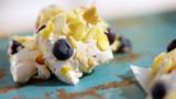 Lemon and blueberry nougat