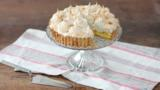Lime and coconut meringue pie