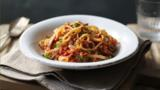 Tuna pasta sauce with linguine