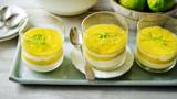 Sugar-free mango and lime mousse