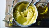 Mashed potato with garlic-infused olive oil