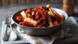 Pasta with winter ratatouille
