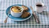 Baked poached haddock and egg pots