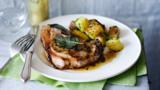 """Pork chop """"Maman Blanc"""" with sauté potatoes"""