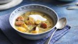Pumpkin stew with sour cream