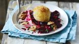 Roast beetroot with goats' cheese