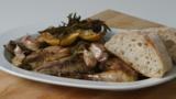 Roast pheasant with lemon and rosemary