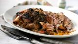 Roast shoulder of lamb with herbs and honey