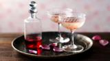 Rose prosecco cocktail