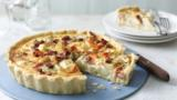 Smoked salmon and potato quiche
