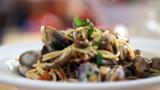 Spaghetti with clams and chilli