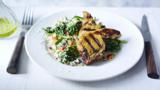 Spiced lamb with couscous salad
