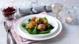 Stilton-stuffed mushrooms with cranberry relish