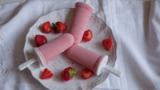 Strawberry ice lollies
