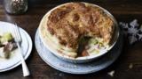 Turkey, leek and ham pie