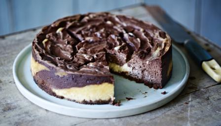 ... of cocoa to this classic baked American cheesecake from Mary Berry