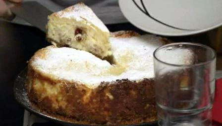Baked Welsh cake cheesecake
