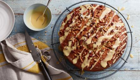 banana and maple syrup cake saturday kitchen recipes