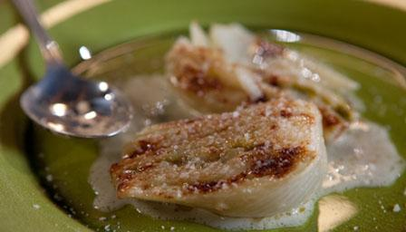 Braised fennel with butter and parmesan