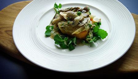 Butternut squash and mushroom tarts