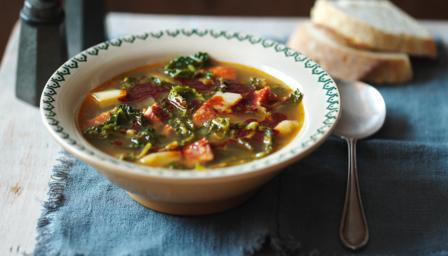 Caldo verde (Portuguese cabbage soup)