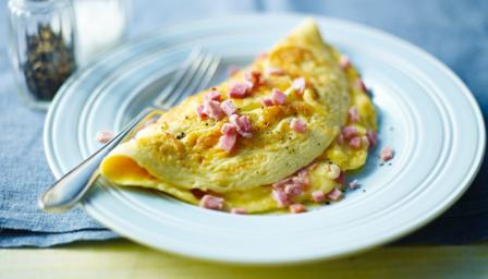 BBC Food - Recipes - Cheese and ham omelette
