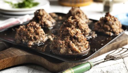Chestnut stuffed mushrooms