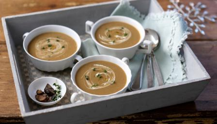 Chestnut, roasted  butternut squash and Bramley apple soup