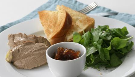 Chicken liver parfait with brandy
