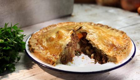 Corned beef plate pie