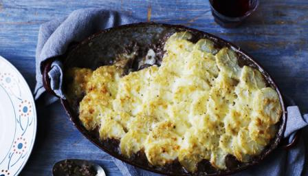 Cottage pie with dauphinoise potato