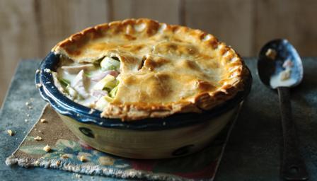 Chicken ham and asparagus pie recipe