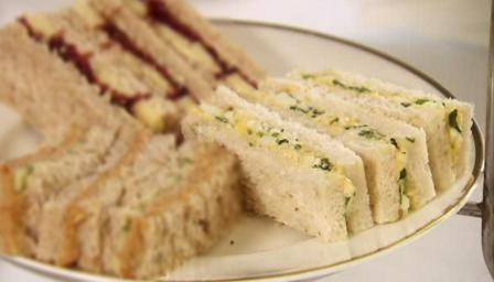Egg mayonnaise and watercress sandwich