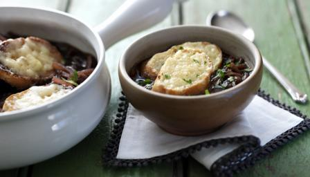 French onion soup with Gruyre toast