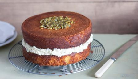 Gluten-free passion fruit and coconut cake
