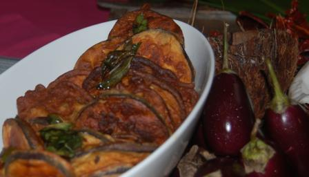 Goan spiced aubergines