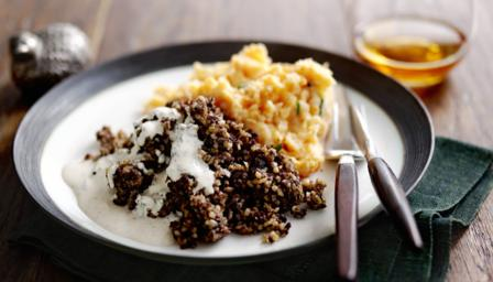 Haggis, clapshot and whisky sauce