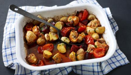 BBC - Food - Recipes : How to make roast chorizo chicken
