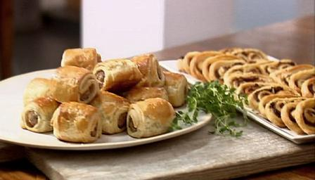 How to make simple puff pastry canapés