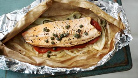 How to make trout en papillote