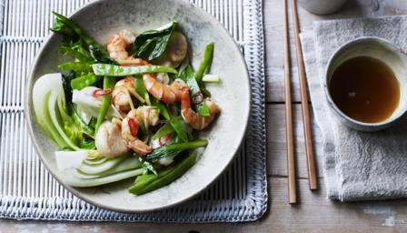 King prawn and scallop stir fry