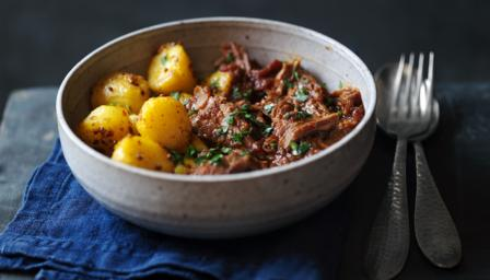 Lamb Madras with Bombay potatoes