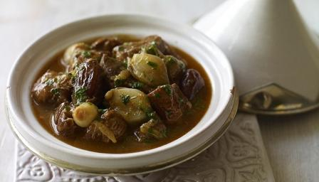 Lamb, shallot and date tagine