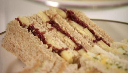 Lancashire cheese and red onion marmalade sandwich